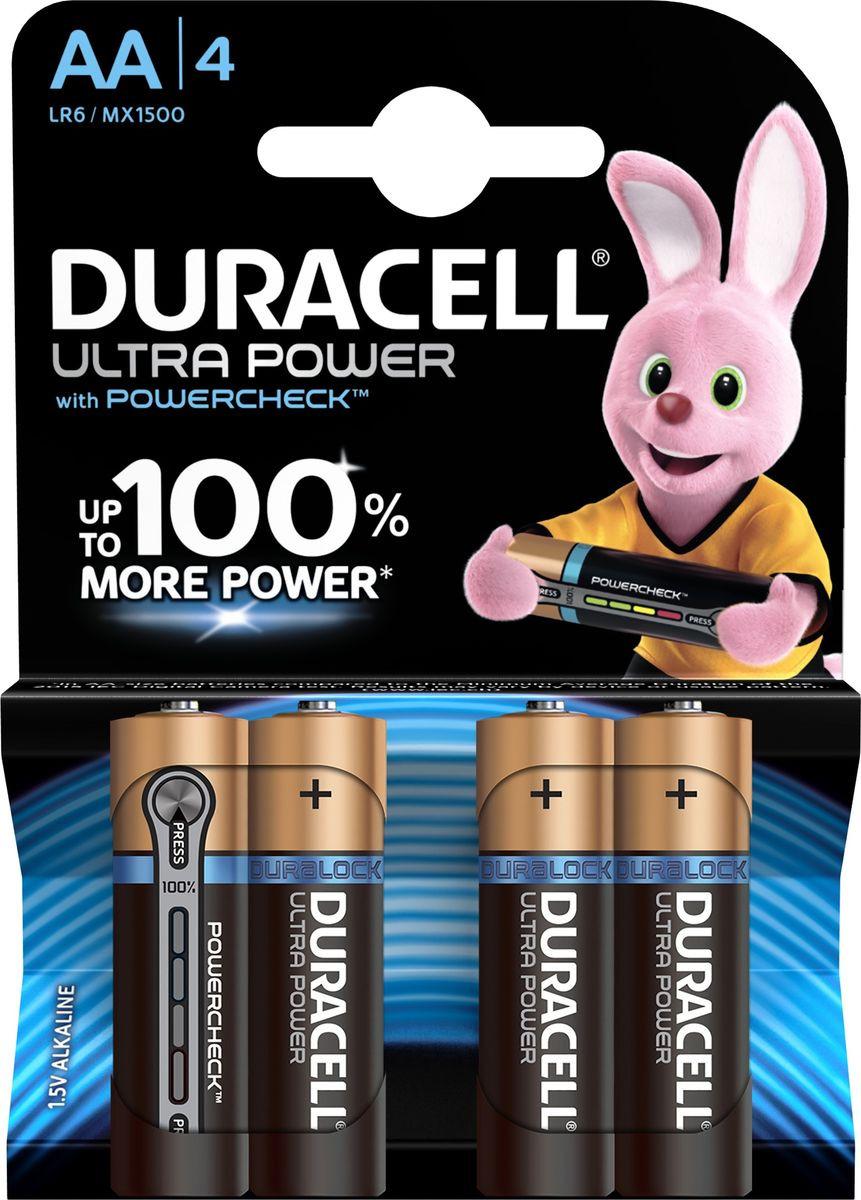 Набор батареек Duracell Ultra Power LR6-4BL, 5004805, 4 шт цена и фото