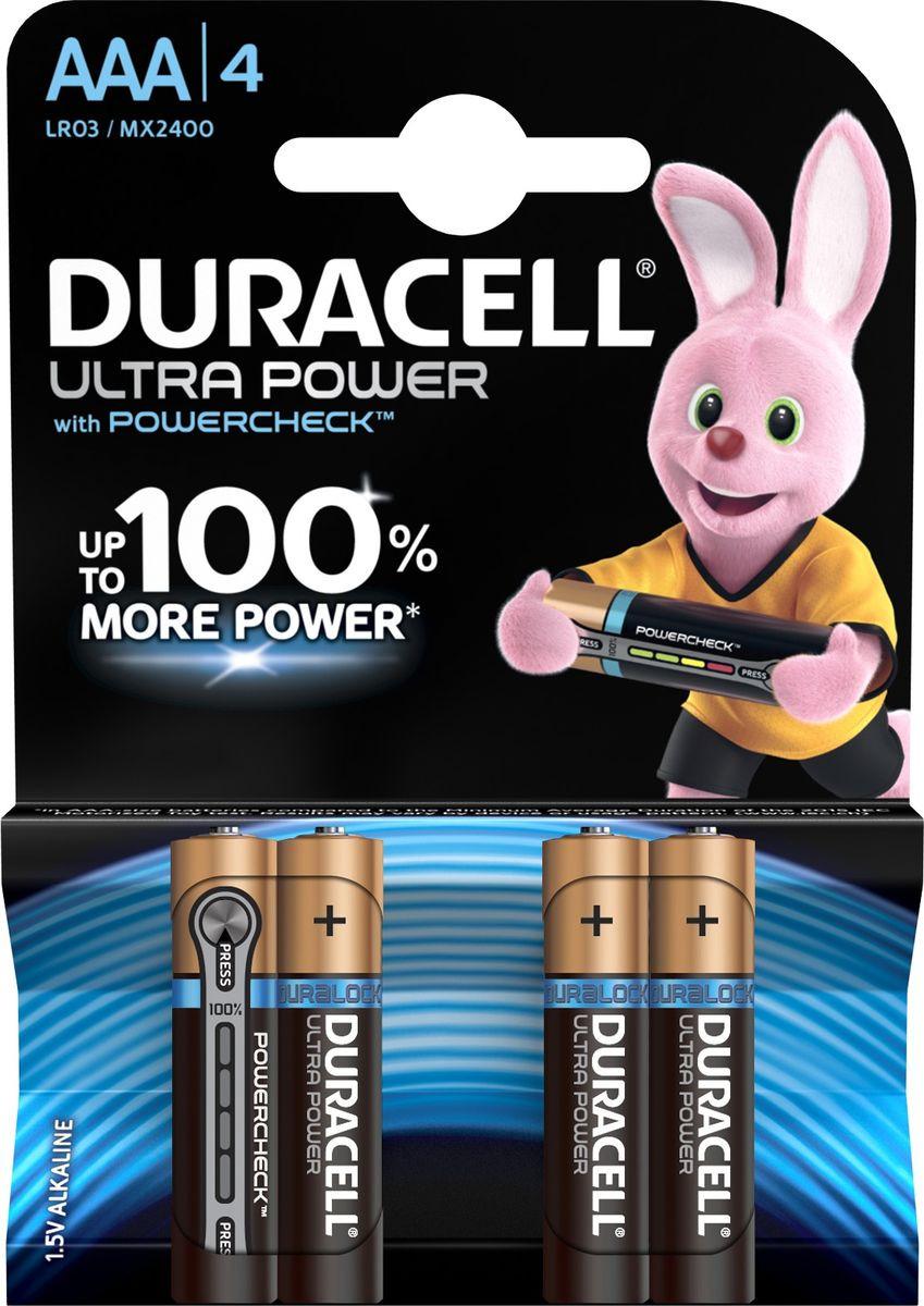 Набор батареек Duracell Ultra Power LR03-4BL, 5004806, 4 шт цена и фото