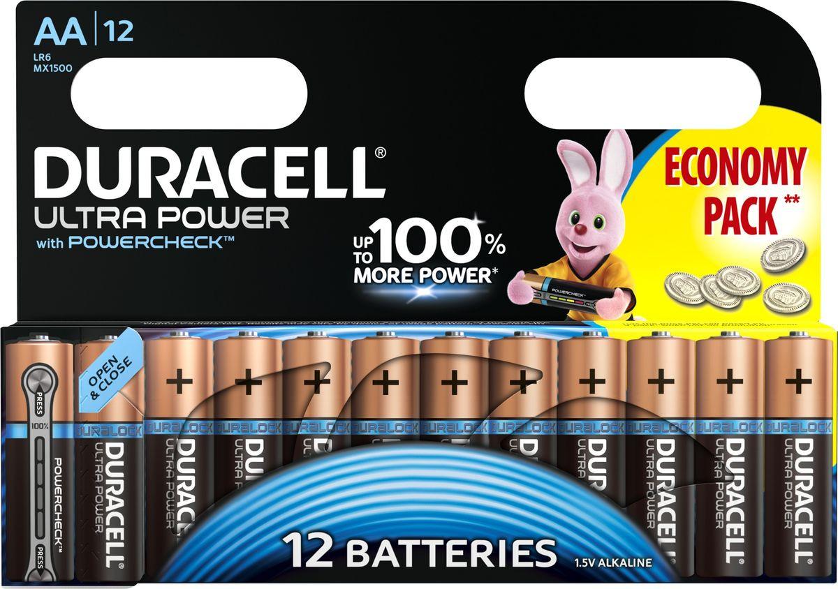 цена на Набор батареек Duracell Ultra Power LR6-12BL, 5004809, 12 шт