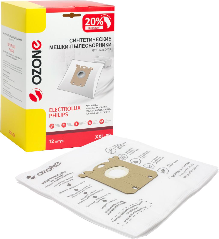 Пылесборник Ozone для пылесоса Electrolux, XXL-02, 12 шт