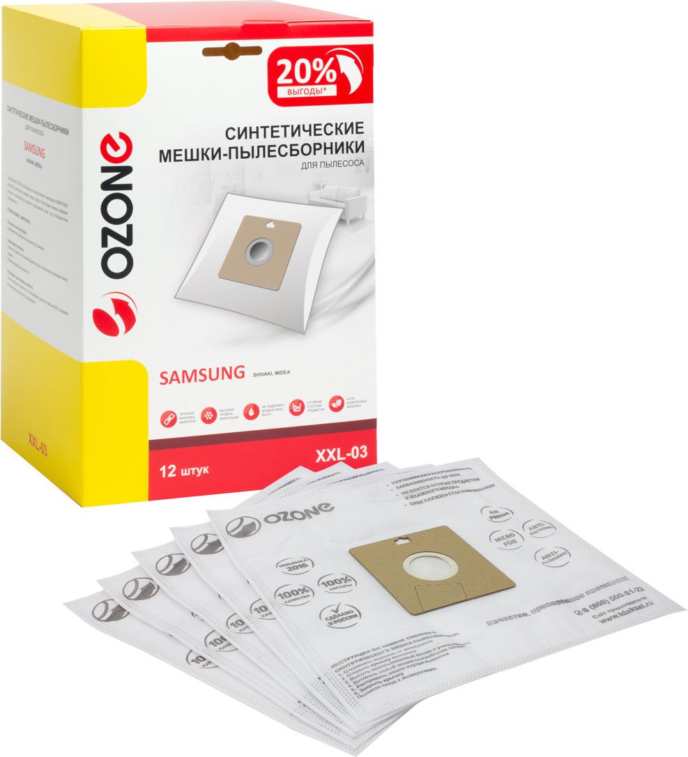 Пылесборник Ozone для пылесоса Samsung, XXL-03, 12 шт цена и фото