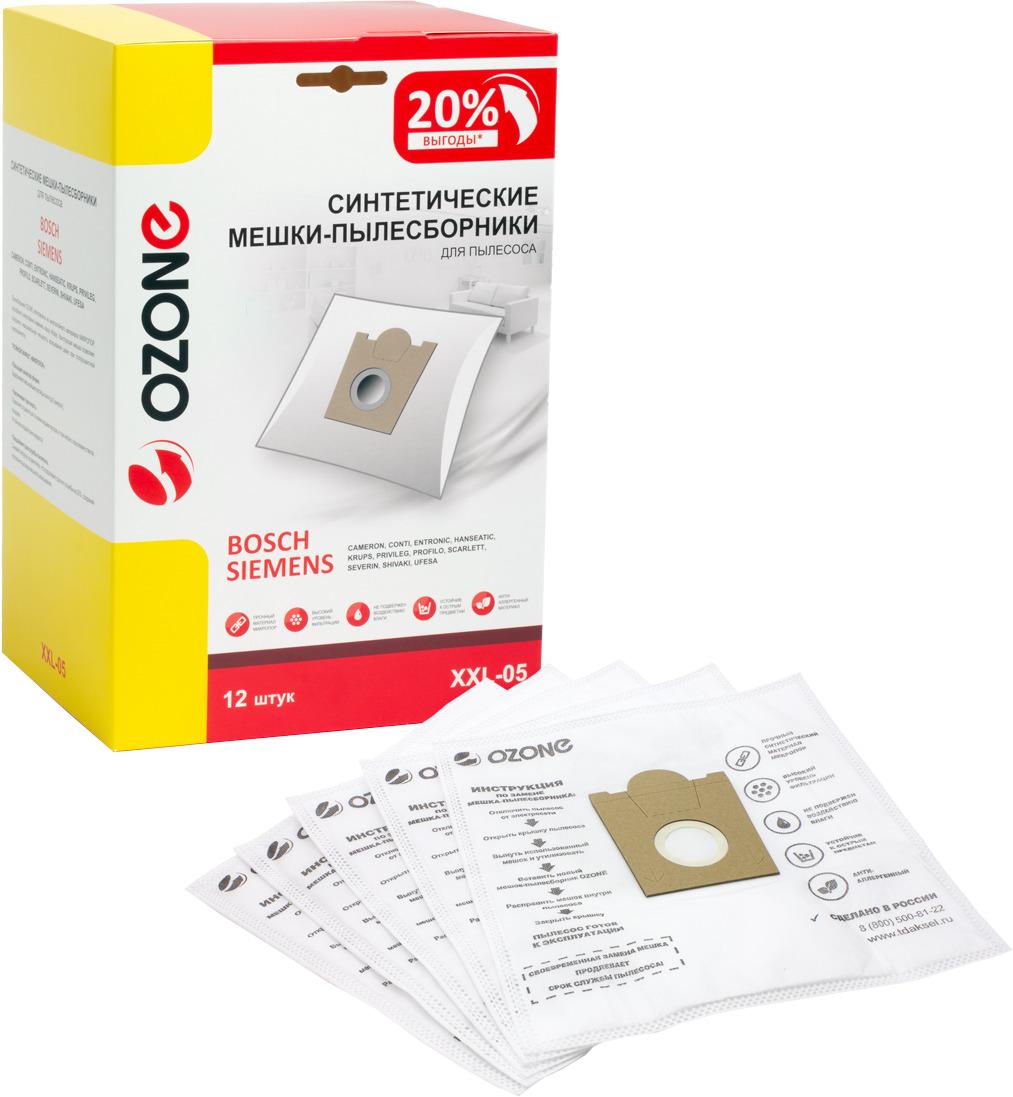 Пылесборник Ozone для пылесоса Bosch, XXL-05, 12 шт