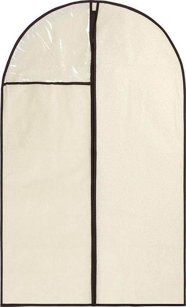 Чехол для одежды Auto Premium, бежевый, 57503, объемный, 63 х 7 х 115 см
