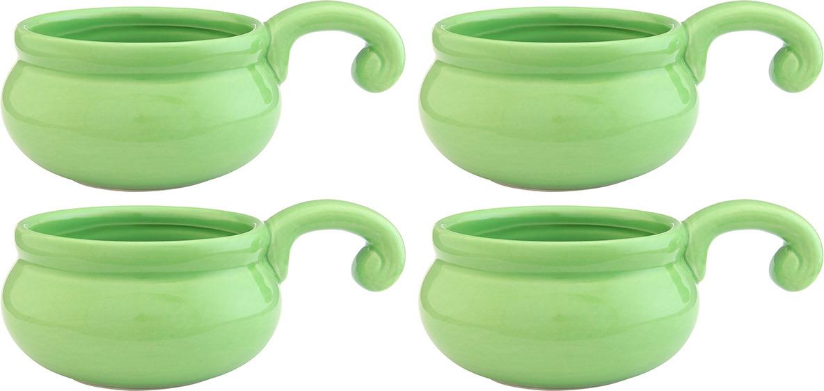 Жюльенница-кокотница Elan Gallery, 110770_4, зеленый, 260 мл, 4 шт110770_4Жюльенница объемом 260 мл выполнена из качественной керамики в форме идеальной для жюльенов и любых других порционных запеченных блюд. У нее удобная ручка и яркие сочные цвета. Жюльенницу можно мыть в посудомоечной машине.