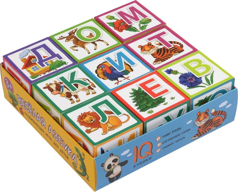 """Кубики Айрис-пресс IQ """"Веселая азбука"""", 978-5-8112-6789-7, 9 шт"""