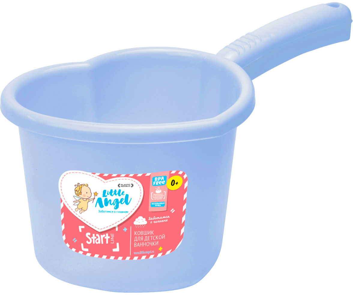 Little Angel Ковшик для детской ванночки цвет голубой