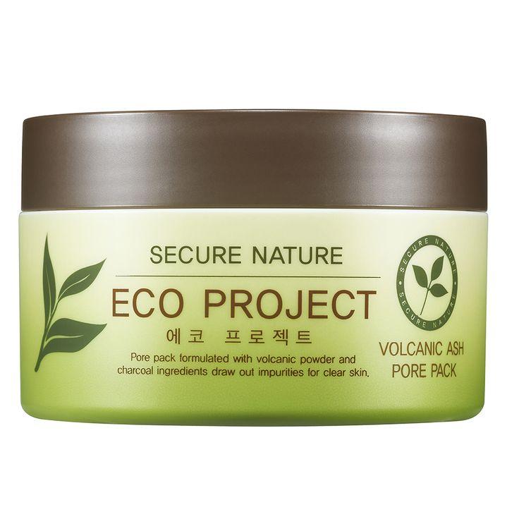 Маска косметическая Secure Nature Eco Project, с вулканическим пеплом secret nature volcanic ash cleansing water очищающая вода с вулканическим пеплом 300 мл