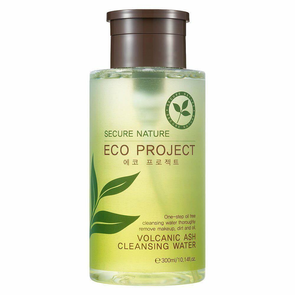 Средство для снятия макияжа Secure Nature Volcanic Ash Cleansing Water, Eco Project, с вулканическим пеплом цена