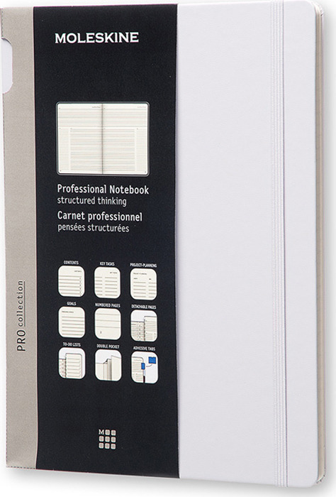 Блокнот Moleskine Professional, PROPFNT4HG24, серый, 96 листов в линейку