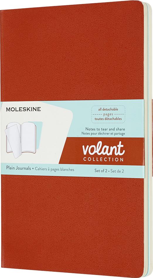 Блокнот Moleskine Volant, QP723F16B24, оранжевый, голубой, 48 листов, 2 шт