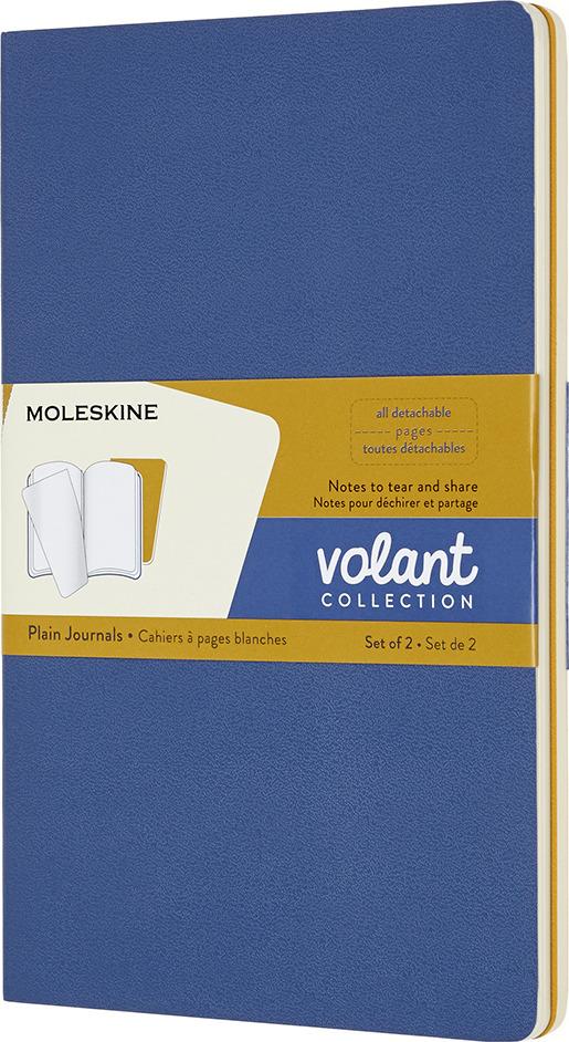 Блокнот Moleskine Volant, QP723B41M17, синий, желтый, 48 листов, 2 шт