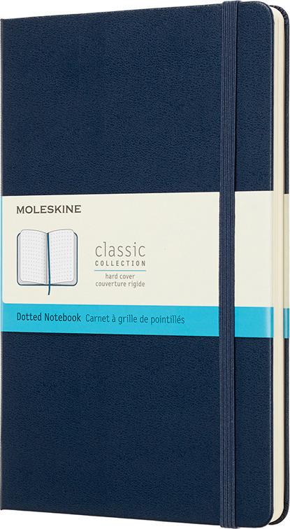 Блокнот Moleskine Classic, QP066B20, синий, 120 листов в точку