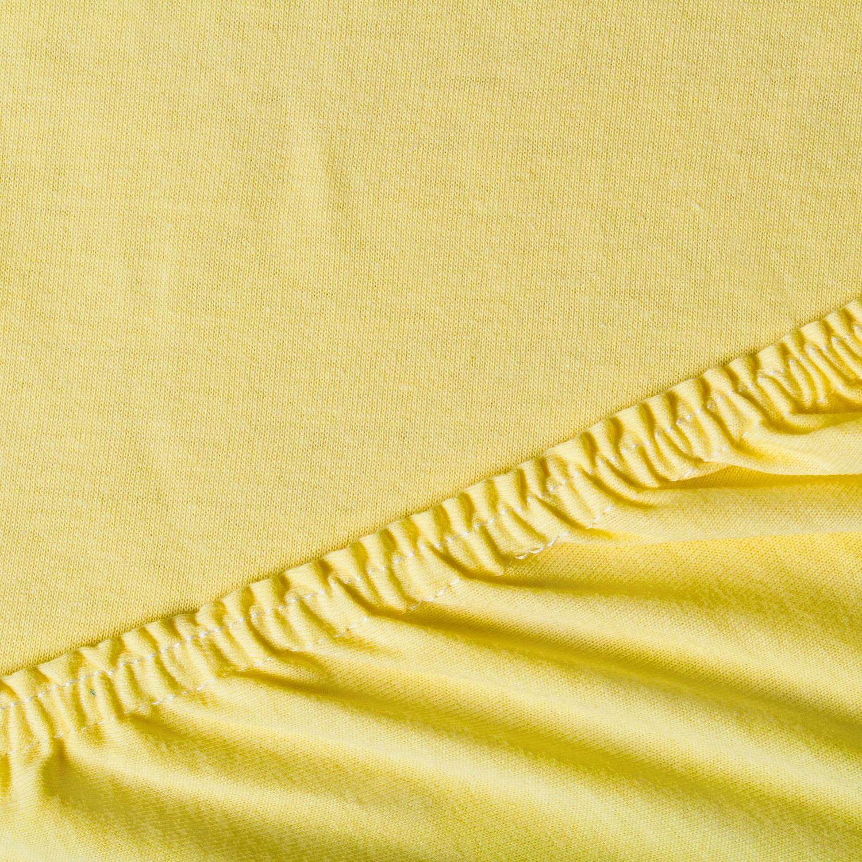 Простыня ТК Традиция Для сна и отдыха 120x200 желтый
