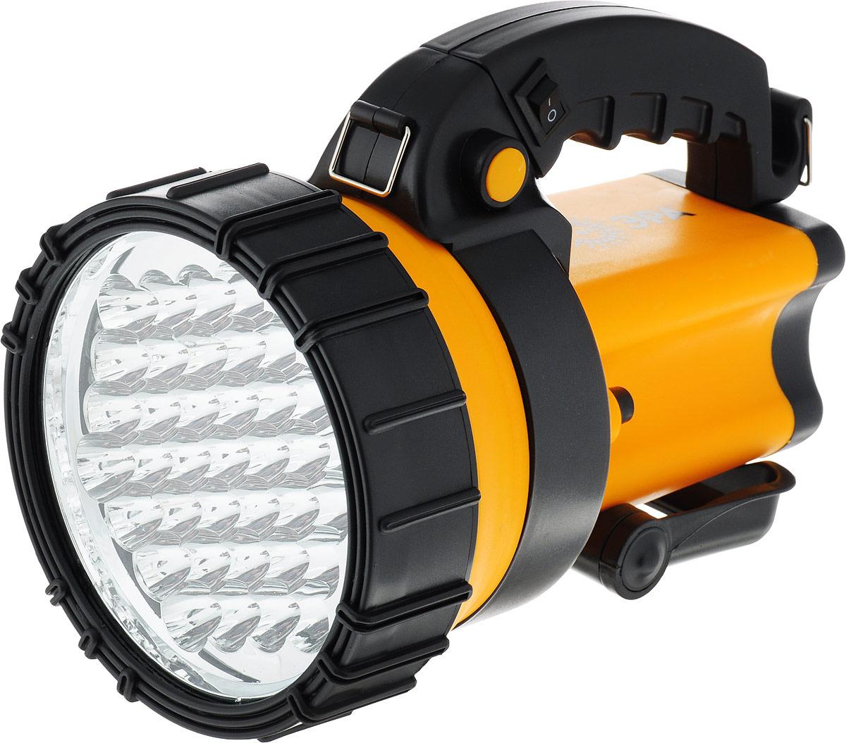 Фара-искатель ЭРА Альфа PA-603, Б0031034, желтый, черный, 36 x LED эра б0031033 фонарь прожектор pa 602 альфа 19 светодиодов аккумулятор литий 3ач зу 220v 12v
