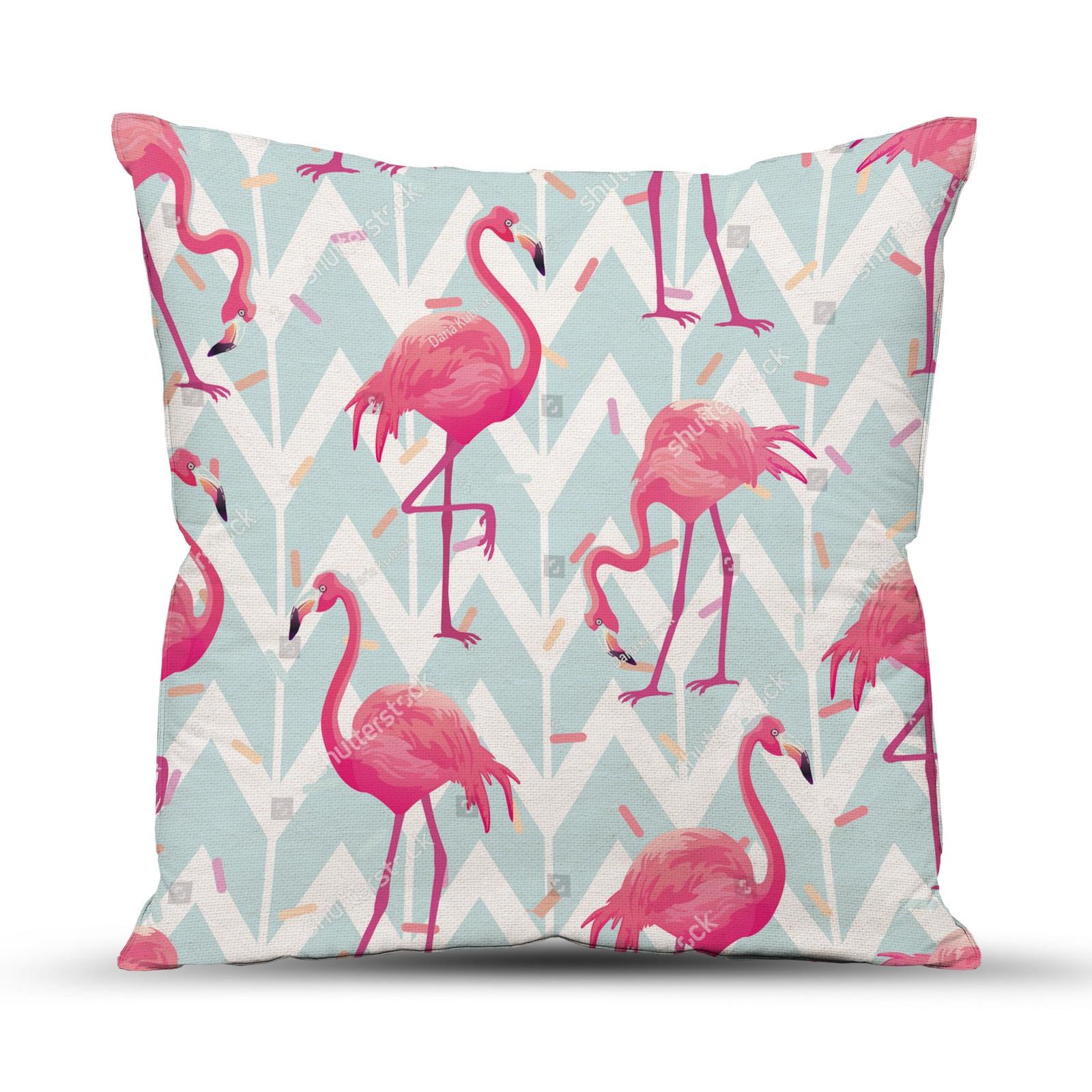 цена на Подушка декоративная ТК Традиция для интерьера, 4052/Фламинго, розовый