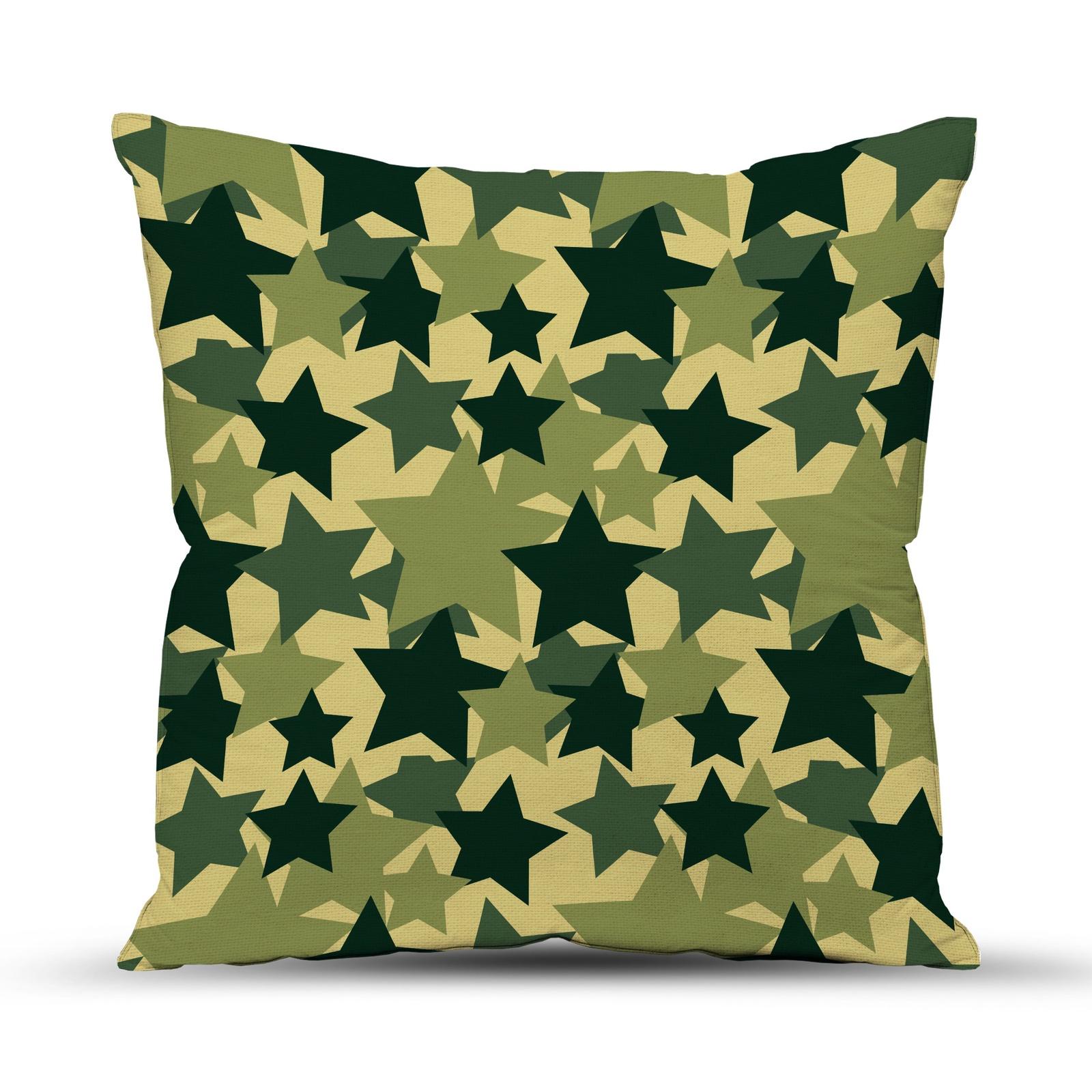 цена на Подушка декоративная ТК Традиция 23 февраля, для интерьера, 4052/Звезды, зеленый