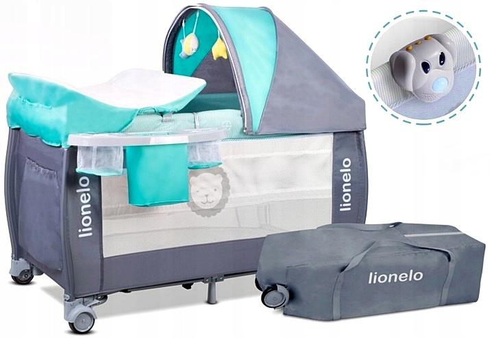все цены на Манеж-кроватка Lionelo SVEN PLUS, LOSventurq бирюзовый онлайн