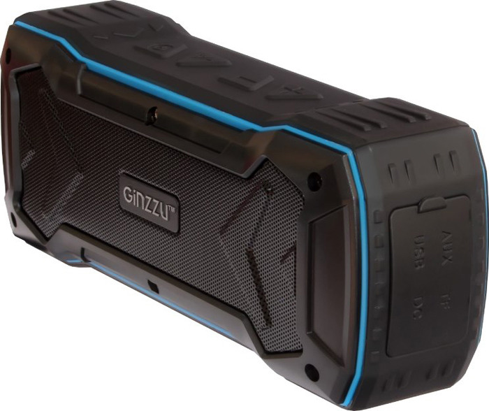 Беспроводная колонка Ginzzu, GM-874B, черный беспроводная колонка ginzzu gm 895b черный