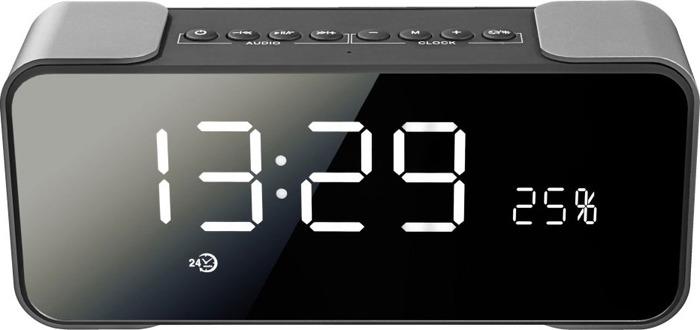 Беспроводная колонка Ginzzu, GM-884B, черный, темно-серый royqueen m350 bluetooth портативный наружный сабвуфер tws interconnect fm радио мини портативный сабвуфер ipx6 водонепроницаемый заколдованный черный
