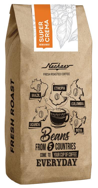Кофе в зернах Nechaev Super Crema, 500 кофе tchibo кофе в зернах davidoff cafe crema 500 g