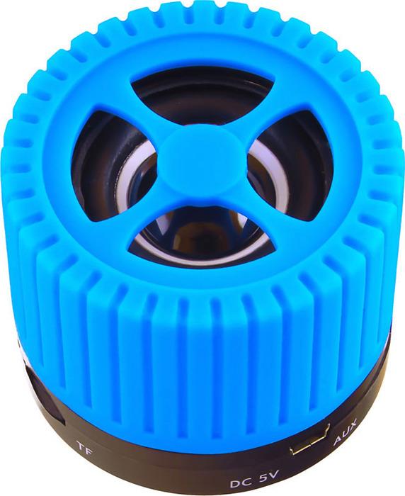 Беспроводная колонка Ginzzu, GM-988C, черный, синий цена и фото