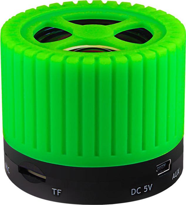 лучшая цена Беспроводная колонка Ginzzu, GM-988G, черный, зеленый