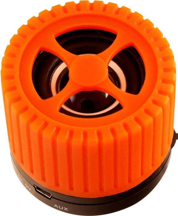 Беспроводная колонка Ginzzu, GM-988O, черный, оранжевый беспроводная колонка ginzzu gm 988o черный оранжевый