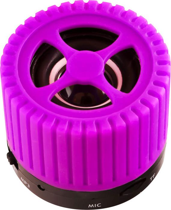 Беспроводная колонка Ginzzu, GM-988V, черный, фиолетовый цена и фото