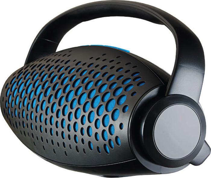 лучшая цена Беспроводная колонка Ginzzu, GM-989B, черный, синий
