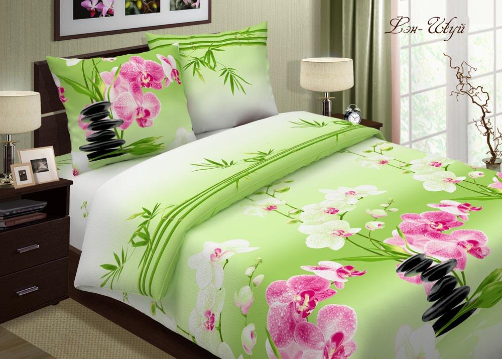 Комплект постельного белья ТК Традиция Pastel, для сна и отдыха, 1203/Фен-шуй зеленый, зеленый