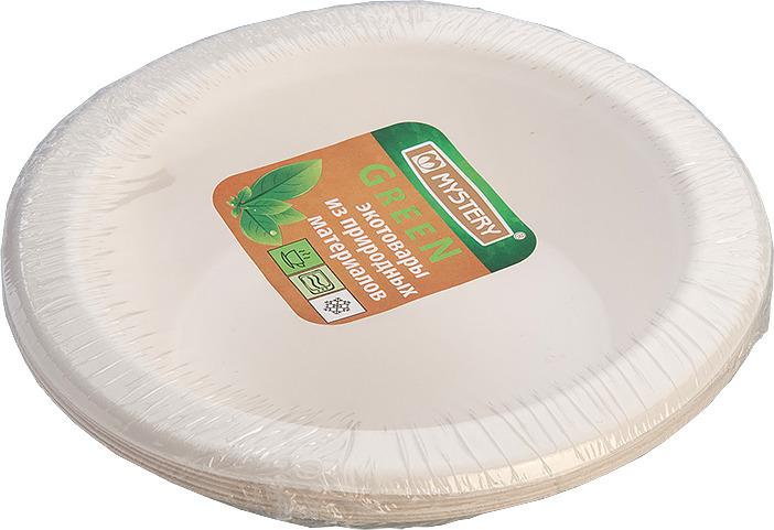 Тарелка одноразовая Green Mystery 6ТТ178Т, 192245, белый, глубокая, 6 шт