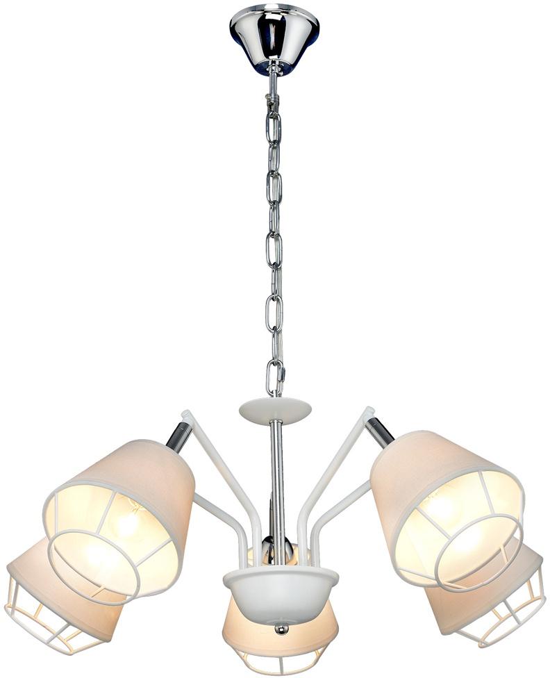 Подвесной светильник Максисвет 6578, 2-6578-5-WH+CR E14, 560х330х330, E14, 60 Вт люстра максисвет панель 1 7176 wh cr y led