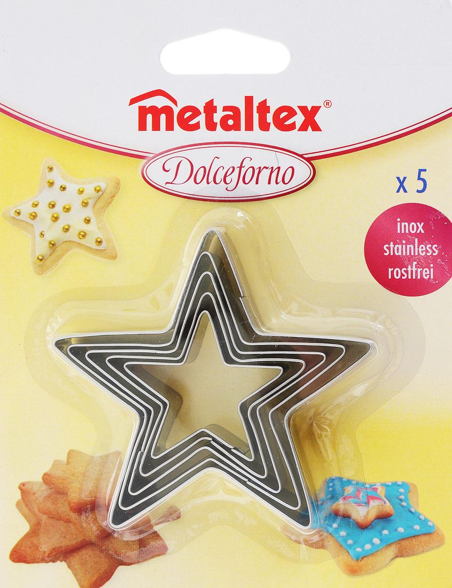 Набор форм для печенья Metaltex Звезда, 25.23.76, 5 предметов набор форм для выпечки metaltex 6 шт 25 91 24