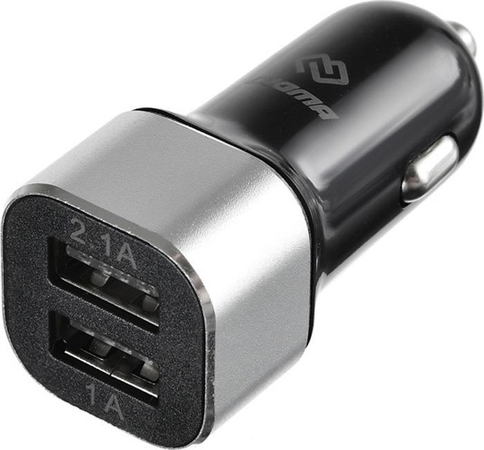 Автомобильное зарядное устройство Digma DGCC-2U-3A-BS 3A, черный автомобильное зарядное устройство digma dgcc 2u 3a wg 2xusb 2 1a белый