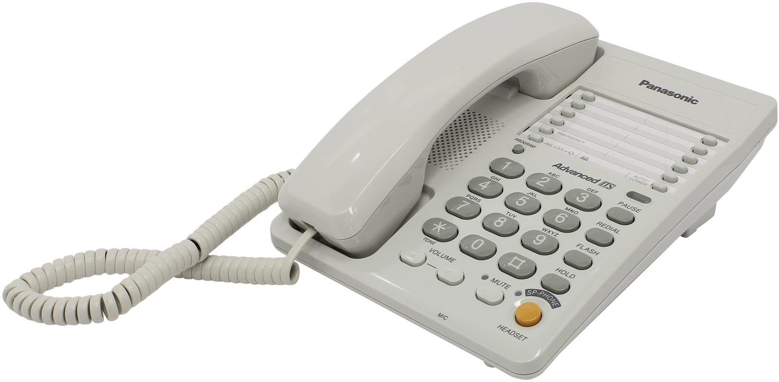 Телефон PANASONIC KX-TS2363RUW, KX-TS2363RUW, белый