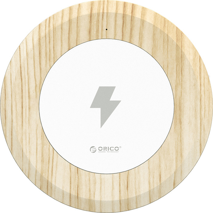 лучшая цена Беспроводное зарядное устройство Orico WOC1, ORICO WOC1-WD, серебристый, дерево