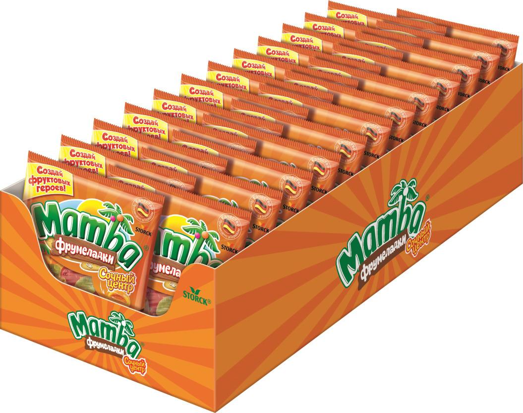 Жевательный мармелад Mamba Сочный центр, 24 шт х 70 г жевательный мармелад mamba фруктовый микс 24 шт х 72 г