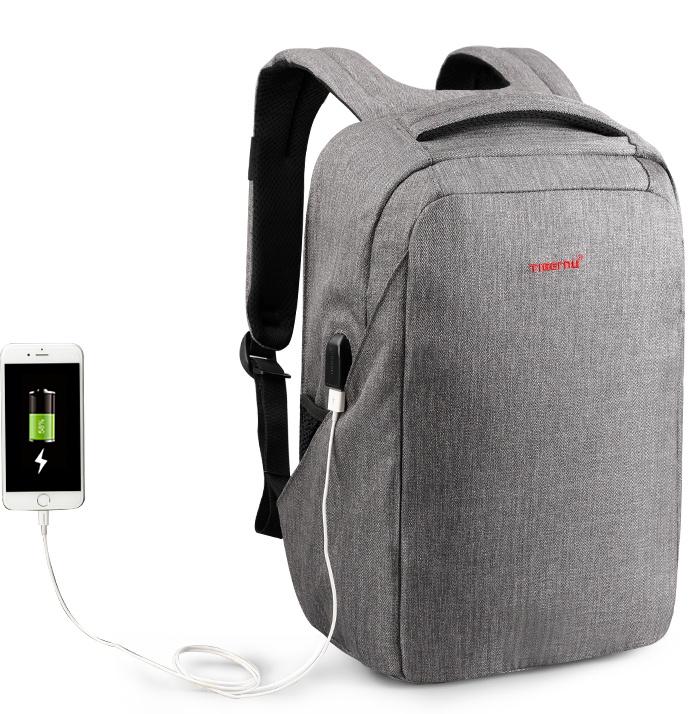 Рюкзак для ноутбука Tigernu T-B3237, 2000000148762, светло-серый рюкзак от воров