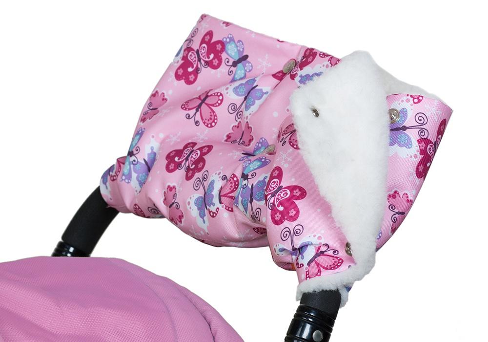 Аксессуар для колясок Чудо-чадо Муфта для рук на коляску меховая Комфорт, МКМ17-000 розовый муфта tigger warmhands на ручку коляски