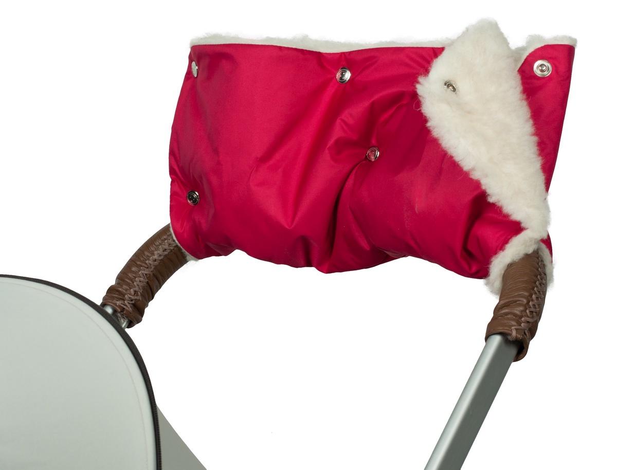 Аксессуар для колясок Чудо-чадо Муфта для рук на коляску меховая Классика, МКМ11-000 бордовый муфта для рук на коляску чудо чадо мкф18 000 флис хаки
