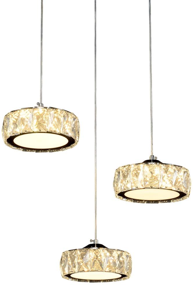 Потолочный светильник МАКСИСВЕТ 1628, 2-1628-3-CR+WH LED, 450х450х1200, серебристый максисвет потолочная люстра максисвет design геометрия 1 1696 4 cr y led