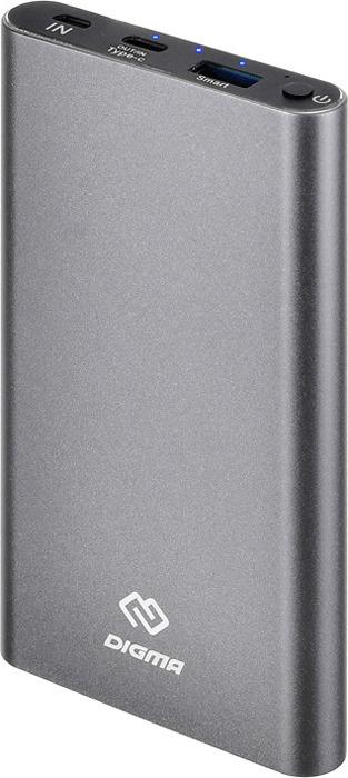 лучшая цена Внешний аккумулятор Digma, DG-ME-10000, 10000 мАч, белый