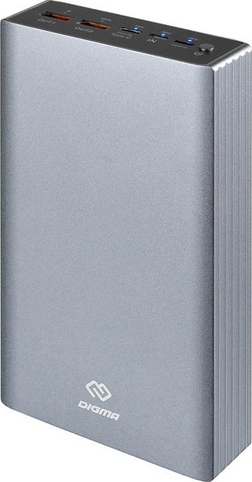 Фото - Внешний аккумулятор Digma, DG-PD-30000-SLV, 30000 мАч, серебристый аккумулятор