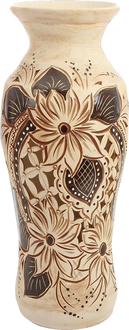 """Ваза Керамика ручной работы """"Весна"""", 2446238, коричневый, бежевый"""