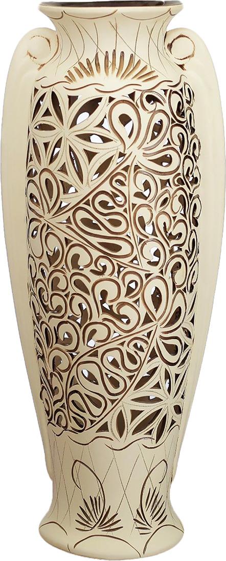 Фото - Ваза Керамика ручной работы Ева, 2733439, белый ваза керамика ручной работы замок 1164731 коричневый 20 х 20 х 66 см