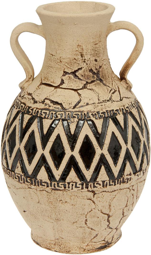 """Ваза Керамика ручной работы """"Герда"""", 1123765, бежевый, коричневый, 26 х 26 х 45 см"""