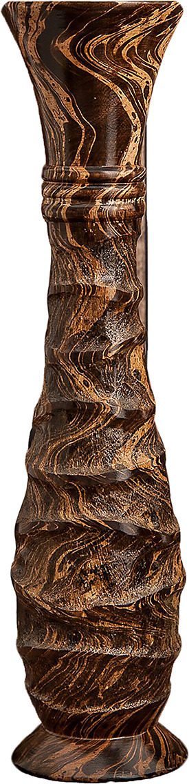 "Ваза ""Бугры"", 3257011, коричневый, 13 х 13 х 60 см"