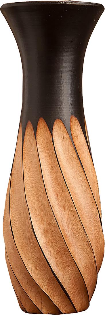 "Ваза ""Вертушка"", 3256980, коричневый, 12,5 х 12,5 х 30 см"