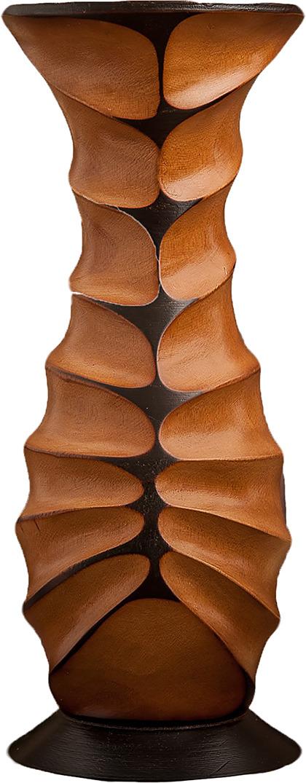 "Ваза ""Пустоты"", 3257001, коричневый, бежевый, 15 х 15 х 38 см"