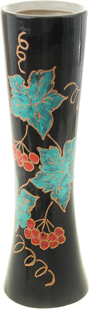 Фото - Ваза Керамика ручной работы Марика, 1004075, черный, 12 х 12 х 40 см ваза керамика ручной работы замок 1164731 коричневый 20 х 20 х 66 см